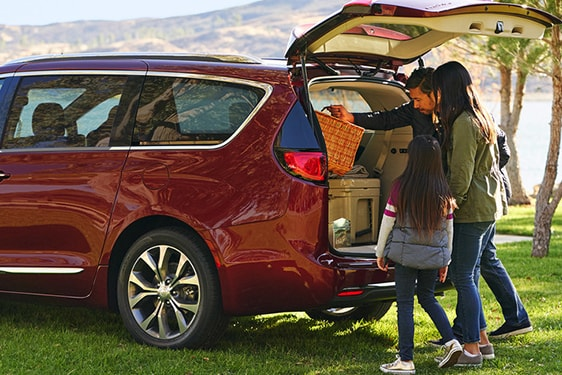 Chrysler Pacifica with family