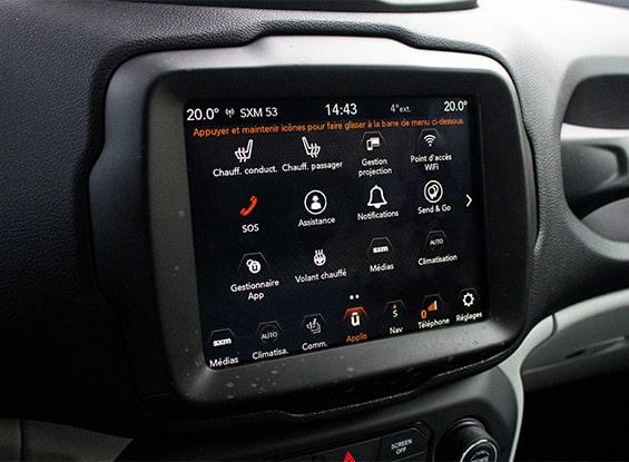 Jeep Renegade screen