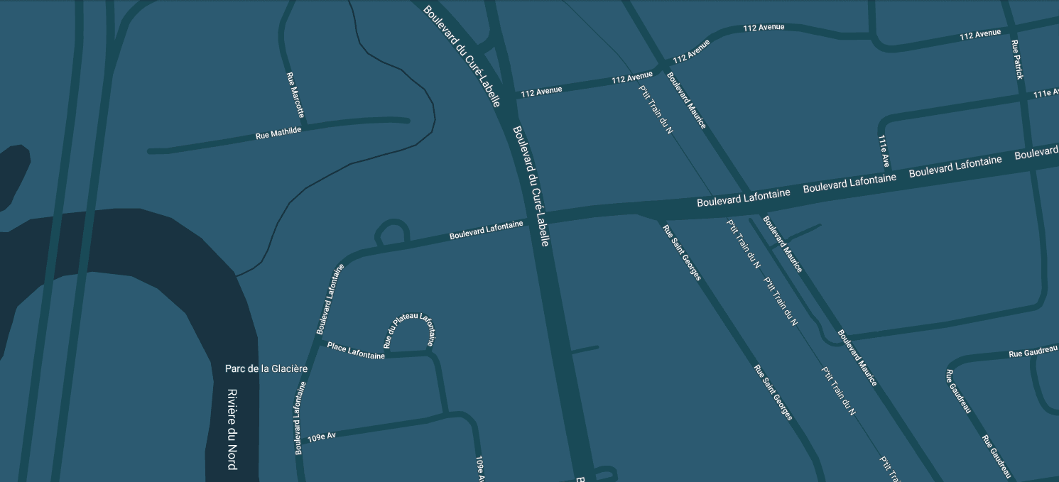 Rive Nord Chrysler Location Map