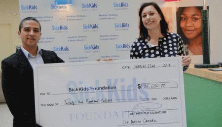 Unique Chrysler Charitable Support Sick Kids Foundation