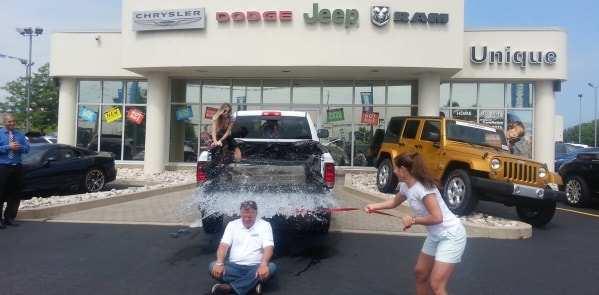Unique Chrysler Charitable Support ice bucket challenge