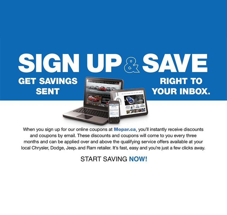 sign up and save with Richmond Chrysler
