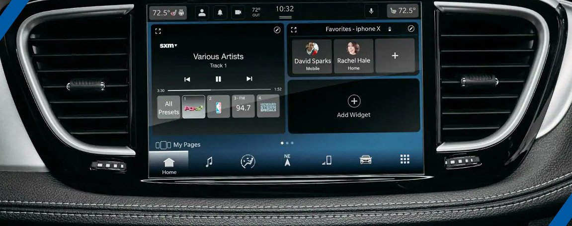 Chrysler Pacifica Touring   Infotainment features