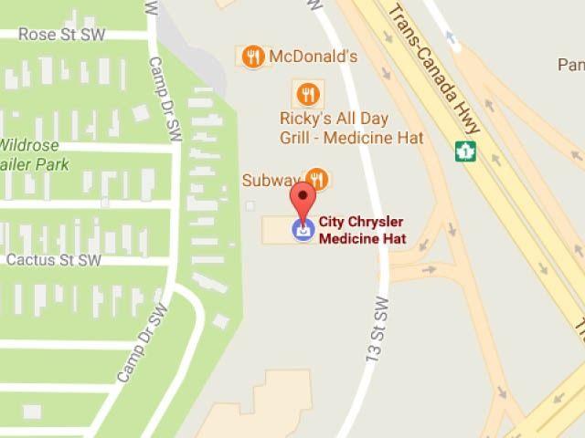 City Chrysler map