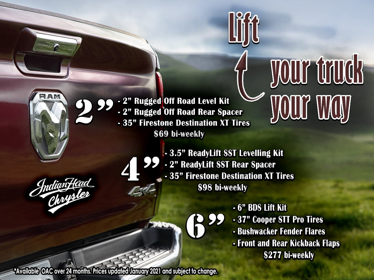 Indian Head Chrysler Truck Lift Kits