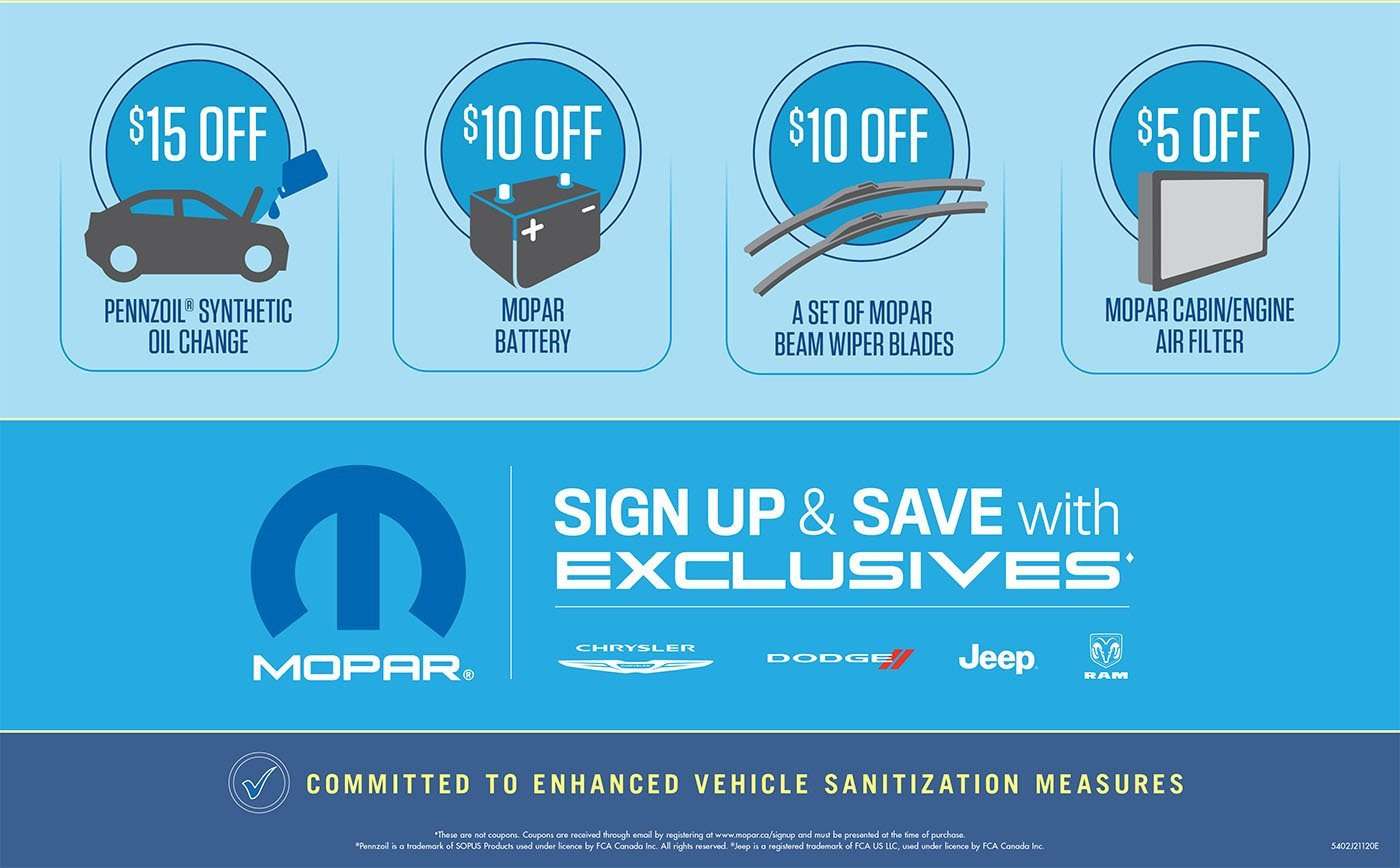 Q1 2021 MOPAR Sign Up and Save Exclusive Offers