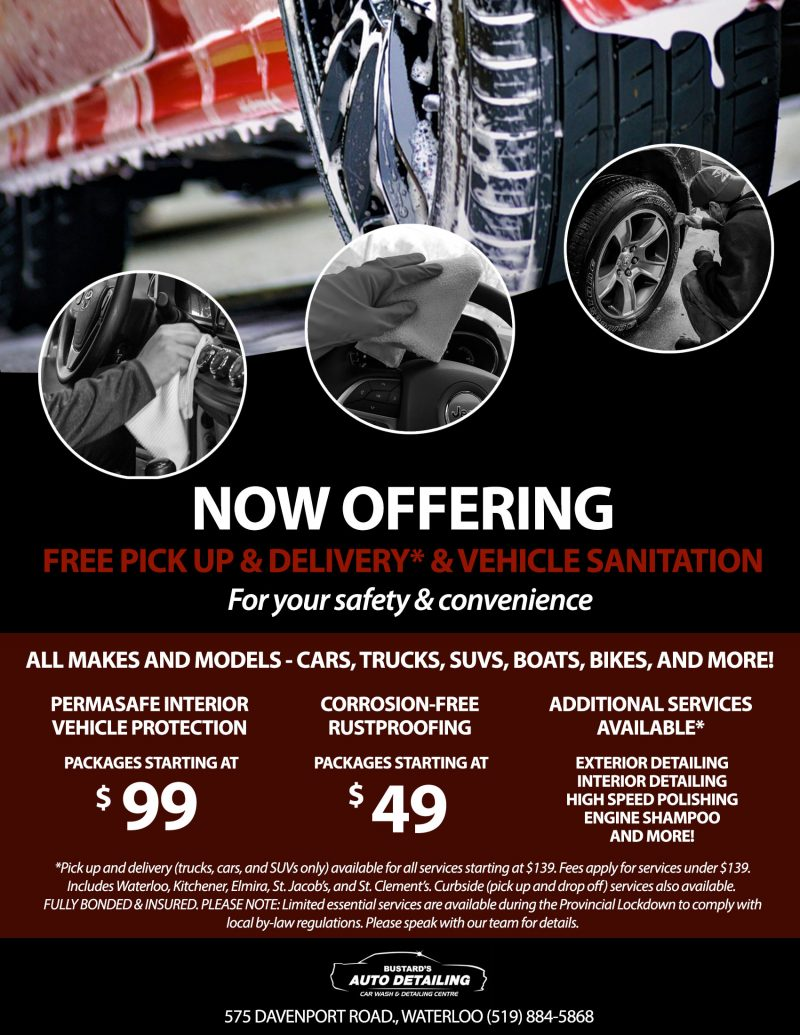 Image of Bustard's Auto Detailing Spring Promo