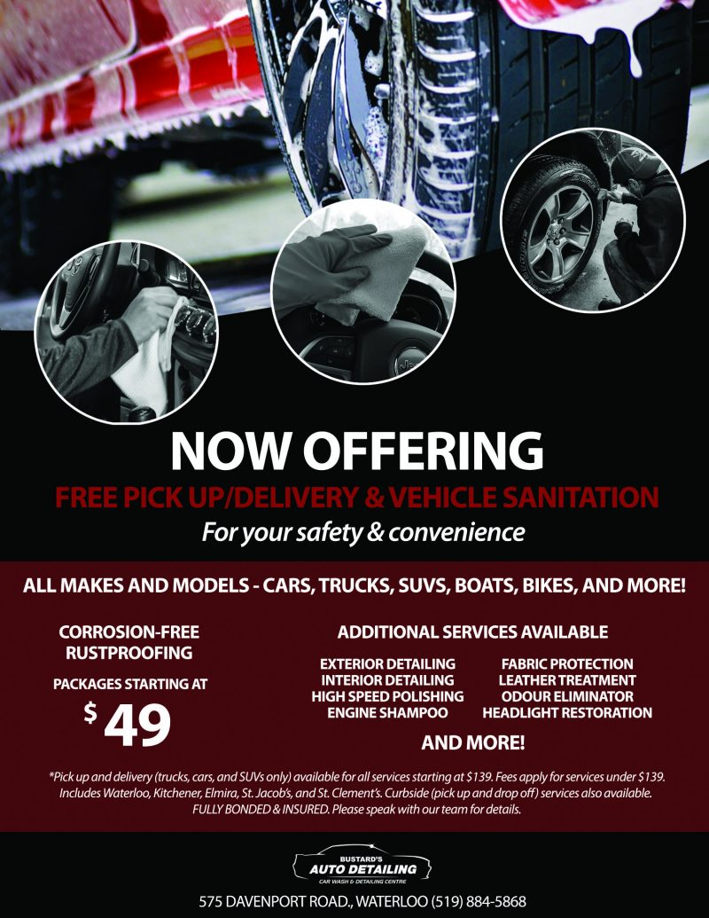 Bustard's Auto Detailing Pickup and Delivery Promotion