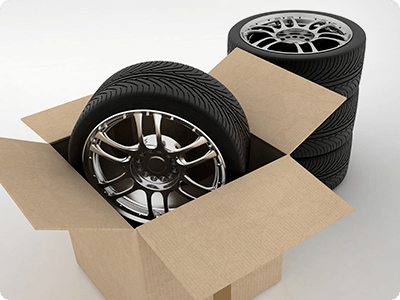 Tires in box