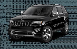 A black Jeep Grand Cherokee SUV available at Hanover Chrysler.