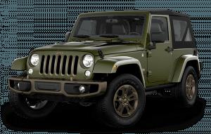 A dark green Jeep Wrangler SUV for sale near Walkerton, Ontario.