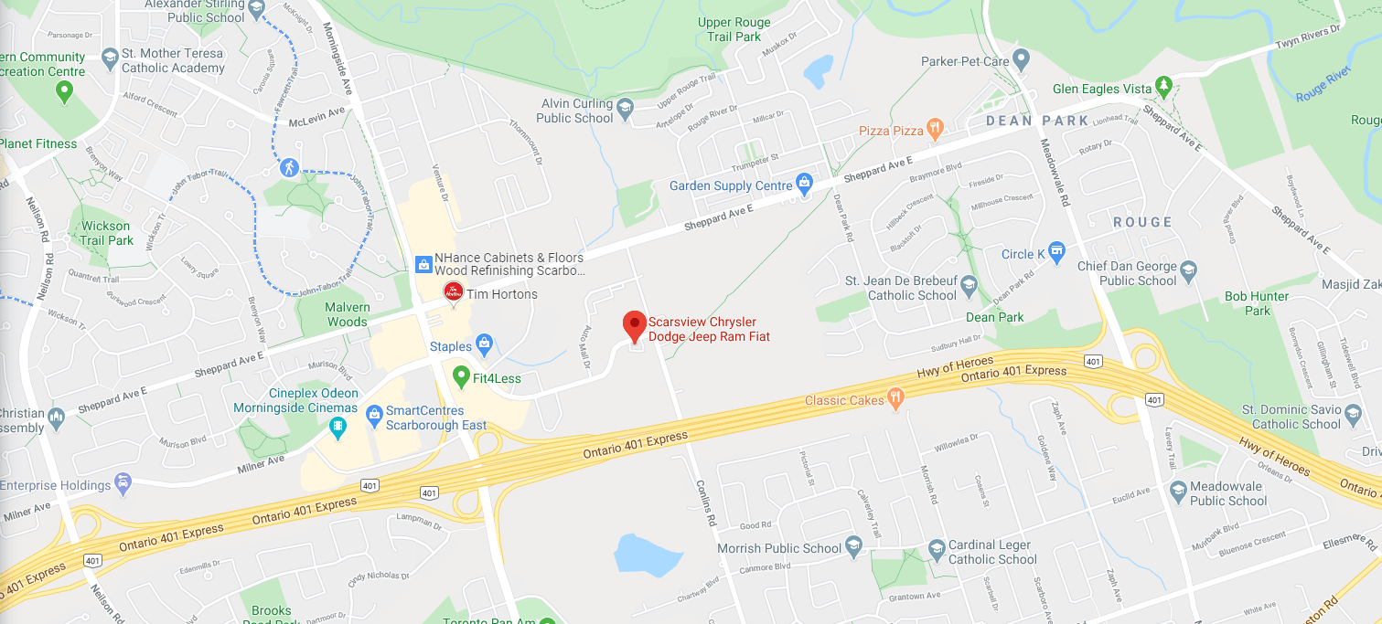 SCARSVIEW CHRYSLER DODGE JEEP Location Map