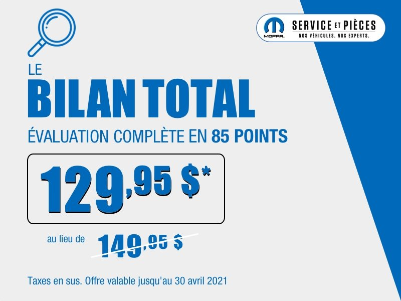Inspection automobile - Bilan Total