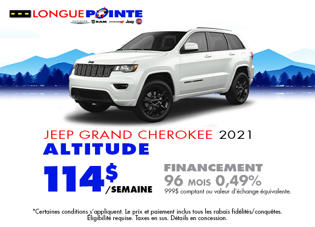 Financement Spécial Grand Cherokee 2021