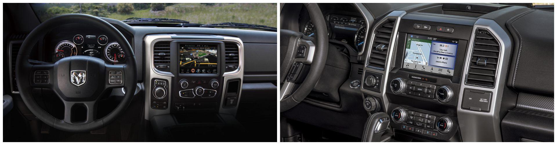 2020 RAM 1500 vs 2020 Ford F-150 Interior