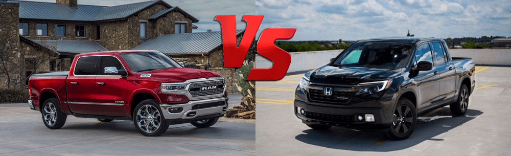 2020 Dodge Ram 1500 vs 2020 Honda Ridgeline