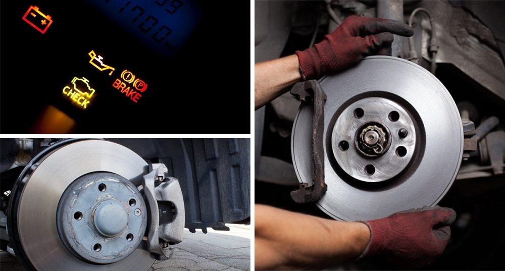 Brakes and warning light